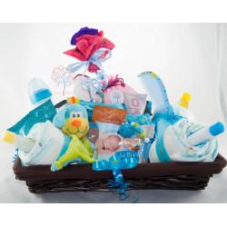 Canastilla bebé y bolsa de maternidad