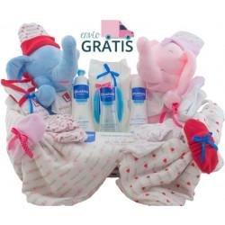 Canastilla bebé gemelar