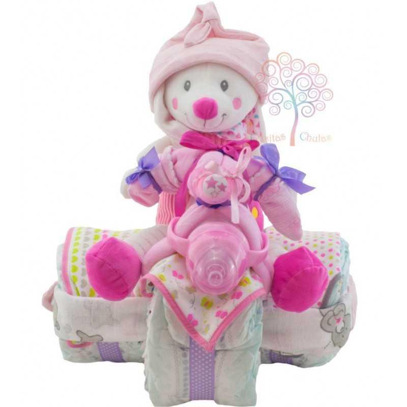 Triciclo de pañales para niña