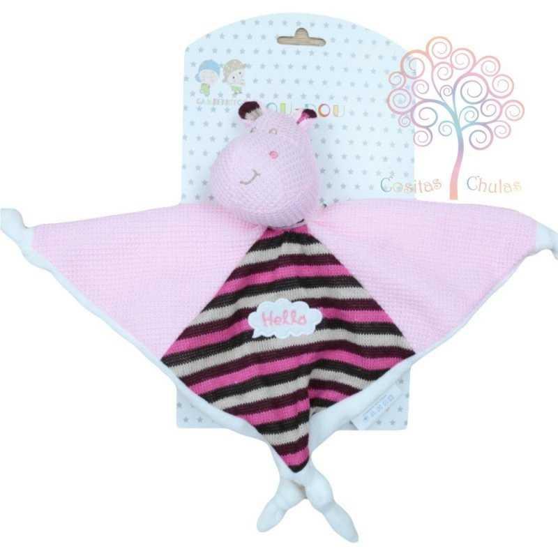 Doudou hipopótamo rosa