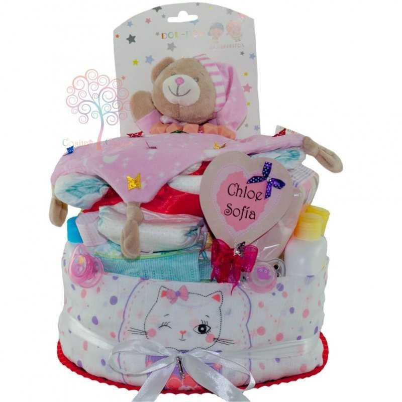 8105c8ce1e25 Tarta de Pañales Myriam de bebé niña barata para comprar
