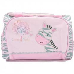 Bolsa maternidad estampado cebra rosa