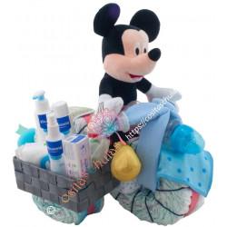 Moto de pañales con sidecar Mickey Mustela