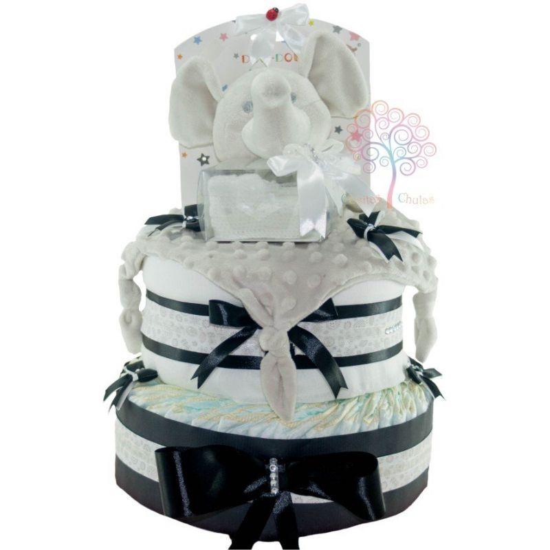 tarta de pañales elegante moda
