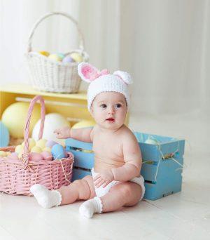 distintas tallas de pañales de bebé según peso