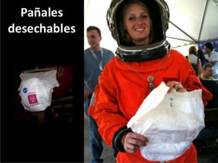 tecnología de los pañales de la NASA